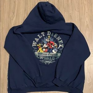 Disney World Vintage Zip Up Hoodie size unisex L